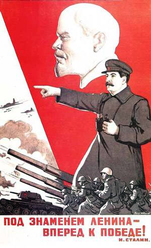Under Lenin's banner, forward to victory!