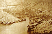 Balaclava harbour during the winter of 1854/55 in Crimea