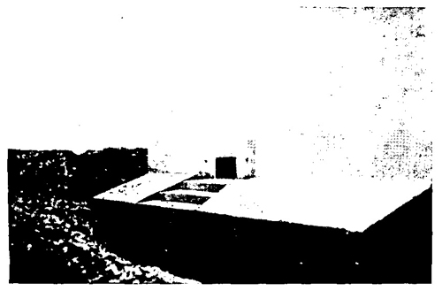 Figure 19.—Armored embrasure with stepped apron.