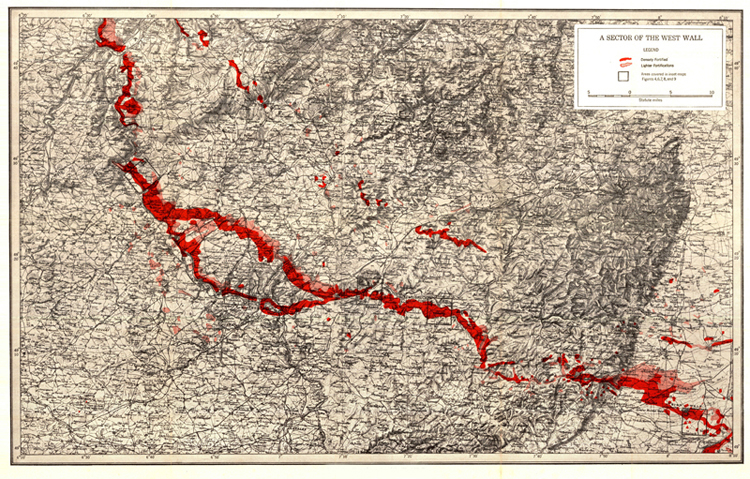 Map. Figure 2.—Map of a sector of the West Wall.