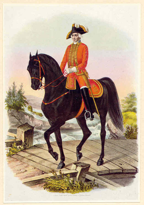 A subaltern officer ol the Horse Guards in full dress uniform (1742-1762)
