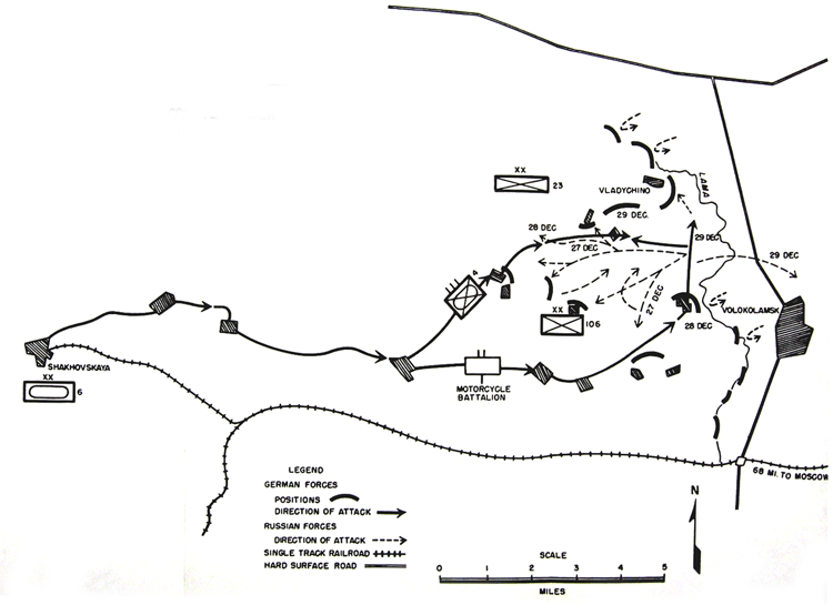 MAP 2.	Counterattack by 6th Panzer Division near Volokolamsk 28-29 December 1941
