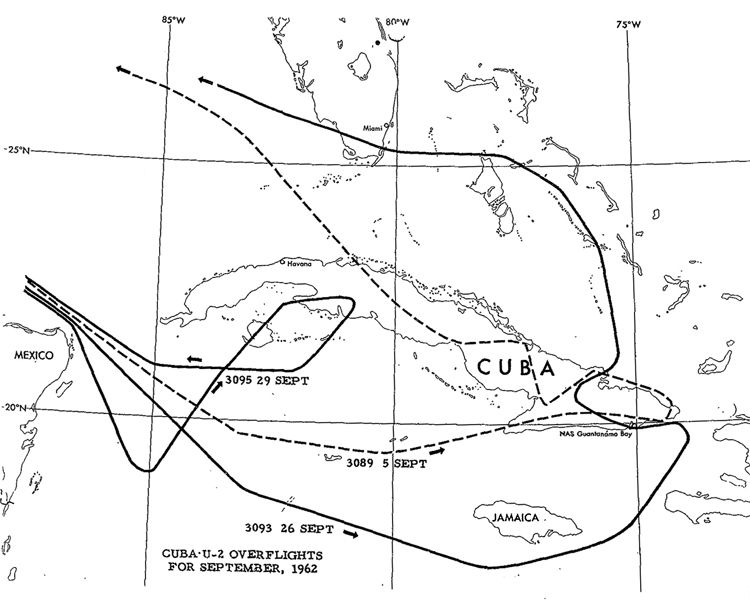 CUBA U-2 OVERFLIGHTS FOR SEPTEMBER, 1962