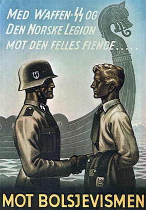 Friendship of Waffen-SS and Norway Legion against common enemy, against Bolsheviks