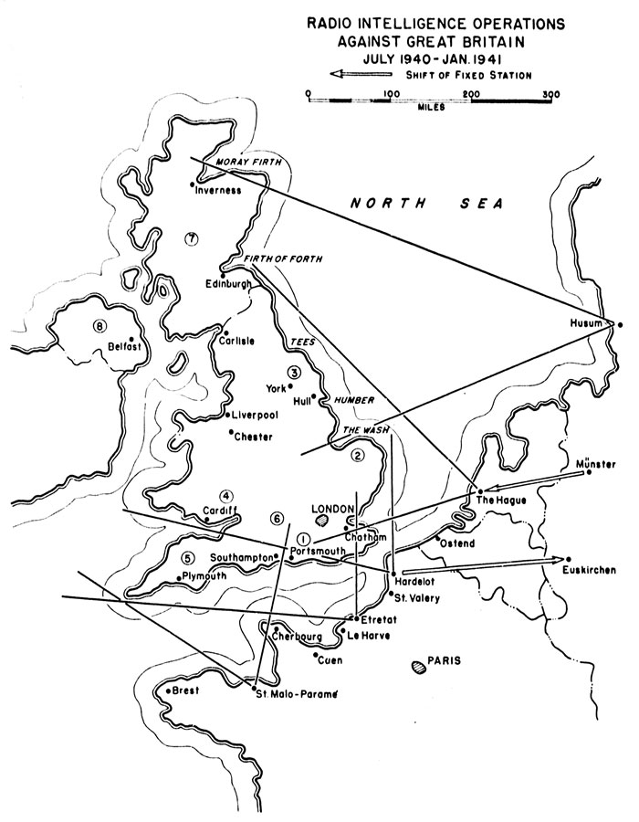 Chart 5. Radio intelligence Operations Against Great Britain, July 1940 - January I94I