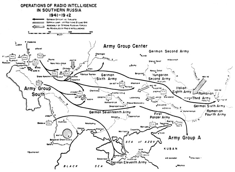 Chart 9. Operations of Radio Intelligence in Southern Russia, 1941 - 42