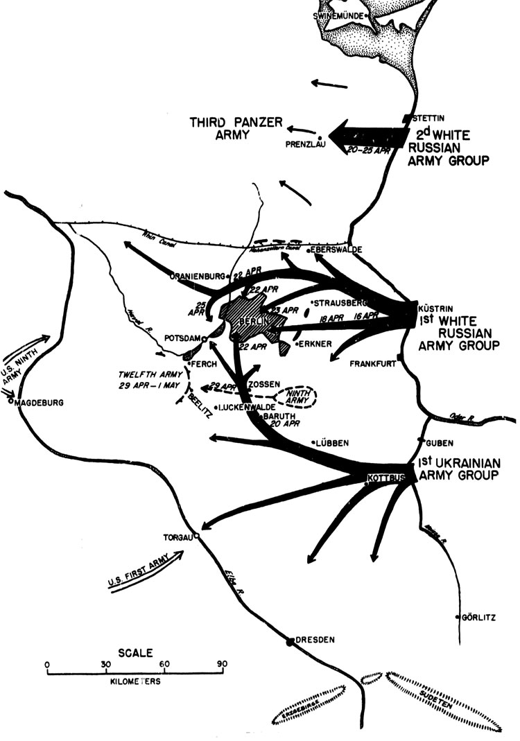 THE MAIN LINES OF ATTACK OF THE RUSSIAN OFFENSIVE