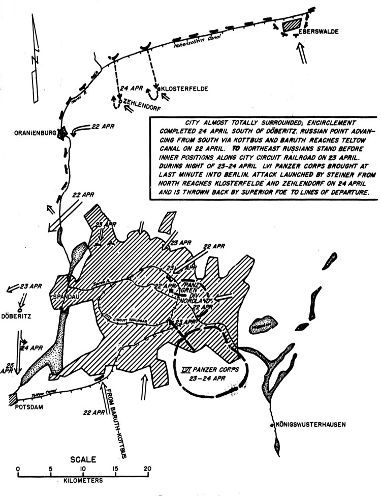 THE SITUATION BERLIN ON 22-24 APRIL 1945